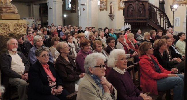 Jean-Claude Gianadda avait centré sa rencontre sur les chrétiens d'Orient, persécutés à cause de leur foi, suscitant une certaine émotion parmi les spectateurs./Photo DDM