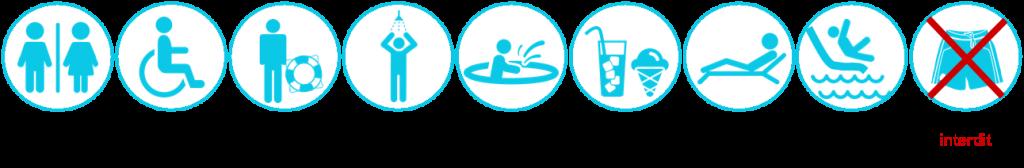 pictogramme piscine
