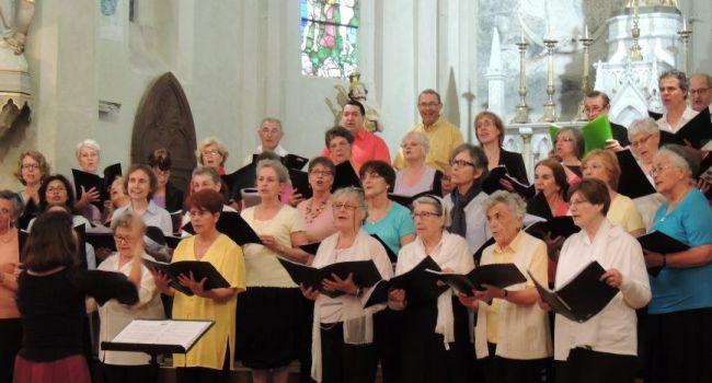 Le concert, un instant d'émotion où le chœur diocésain s'est vraiment retrouvé au cœur de sa mission./Photo DDM