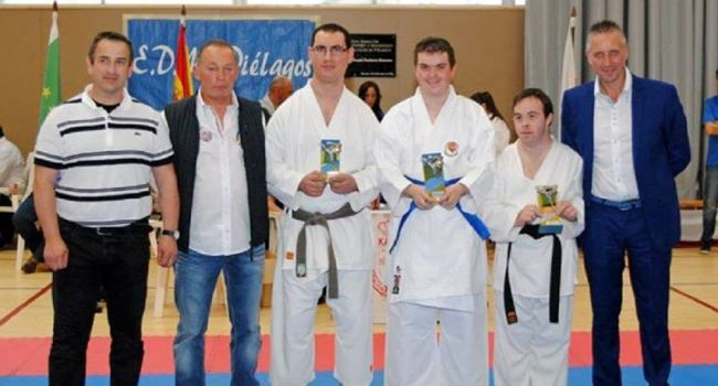 La remise de récompenses, en présence de Philippe Paulino, président de la ligue régionale de la Fédération Sportive et Culturelle de France de Midi-Pyrénées./
