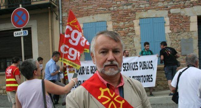 Jean-Luc Rivière, conseiller régional, lors de la manifestation samedi 11 juillet à L'Isle-en-Dodon. / Photo DDM