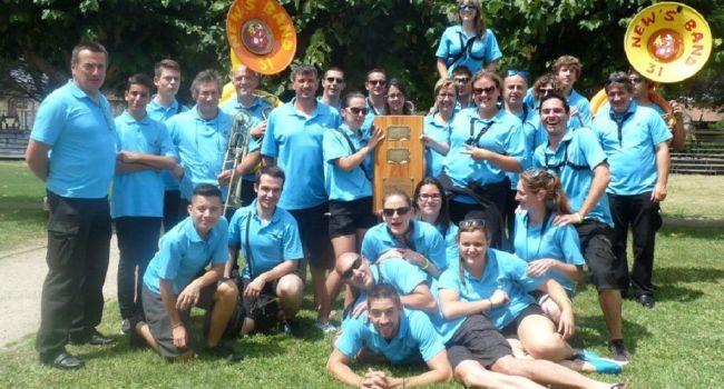 Le New's Band de L'Isle-en-Dodon a remporté le bouclier du 11e festival de bandas de Mazères./Photo DDM