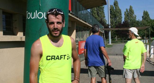 C'est une belle victoire pour le Toulousain Mathieu Paris qui a remporté le semi-marathon (21 km) en 1 h 19 min 14 s / Photo DDM, Y.CS.