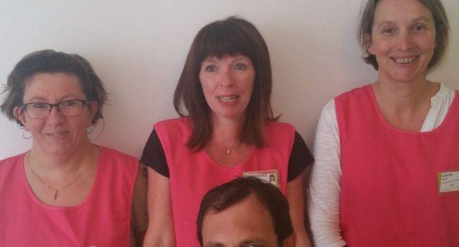 Les intervenants de l'équipe G.E.S.T, qui viennent d'être rejoints en septembre par Carole Pasotti, assistante de vie et assistante maternelle agréée./Photo DDM