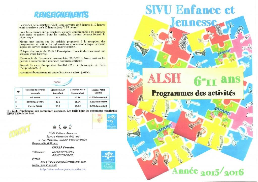 Programme 2015 6-11 ans