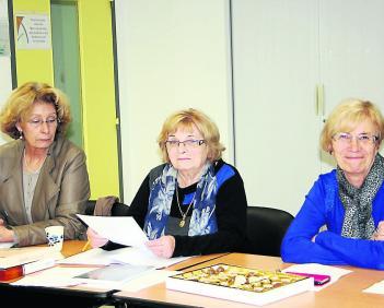 Thérèse Briol (au centre) reprend la présidence de l'ADMR et a proposé une nouvelle organisation qui permettra de partager le travail en tenant compte des compétences de chacun./Photo DDM, Y.C-S
