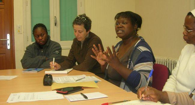 Caty Auguste, présidente de Pamdrh, a fait le bilan de la première année bien remplie de son association et a évoqué les projets pour 2016. /Photo DDM