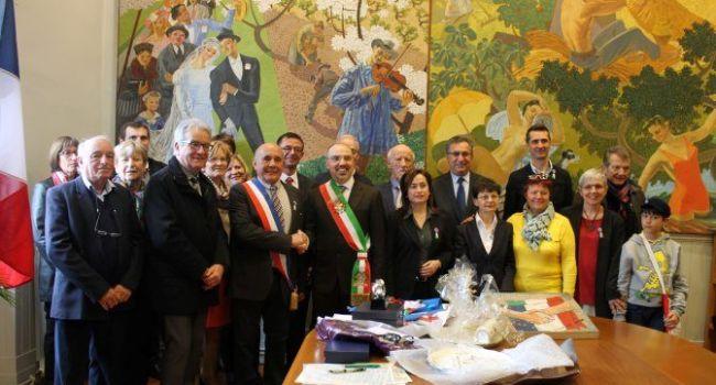 Samedi salle Gaston Lagorre, les dix ans du jumelage ont été célébrés lors d'une belle cérémonie./
