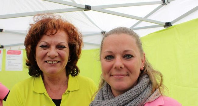 À droite Sabine Stéphane, assistante de vie, qui a rejoint l'équipe de G.E.S.T dernièrement./ Photo DDM, Y.C-S