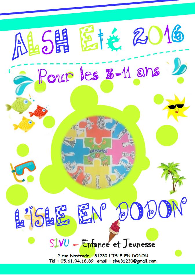 été 2016 ALSH l'isle en dodon vacances Programme 3-6 ans