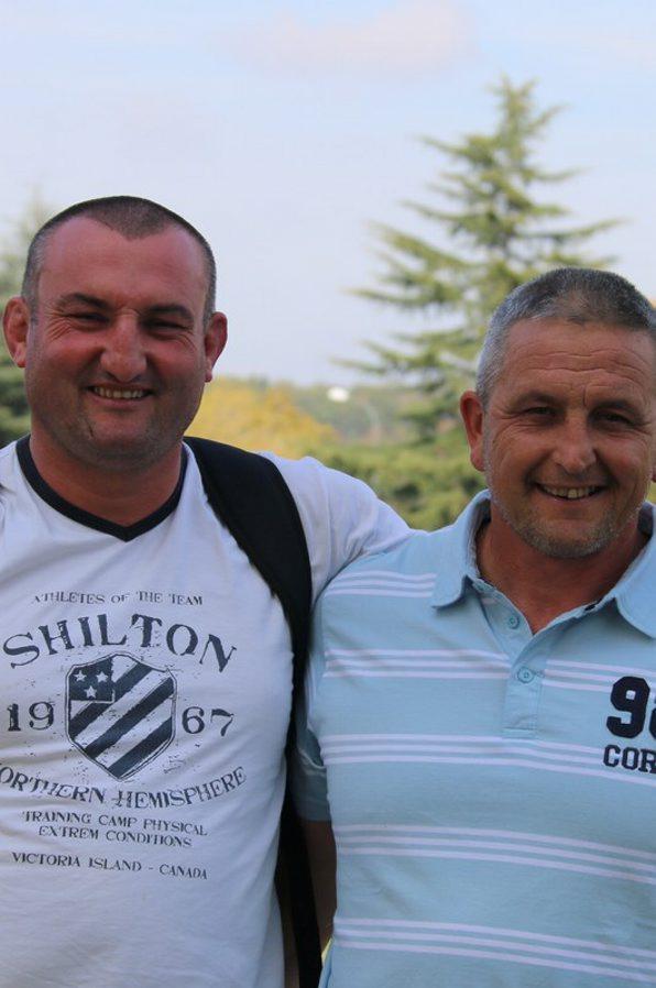 Olivier Charlas (à gauche) en compagnie de Florent Zanandréa, le duo de coachs de L'Isle-en-Dodon. /Photo DDM.