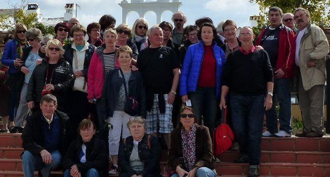 Le groupe de l'association « Circulez, y'a tout à voir » lors du voyage en Andalousie au mois de mars./PhotoDDM
