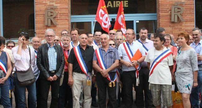 En juillet dernier, les élus, la CGT et la population s'étaient mobilisés./PhotoDDM