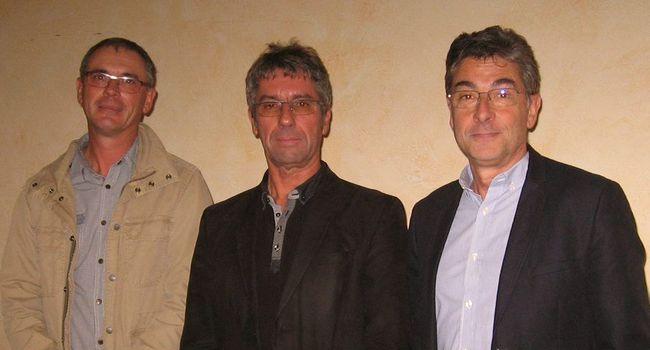 Les présidents des trois syndicats se sont rencontrés et ont fait une brève présentation de leur collectivité./Photo DDM