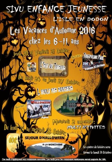 programme centre de loisirs l'isle-en-dodon vacances automne 6-11 ans
