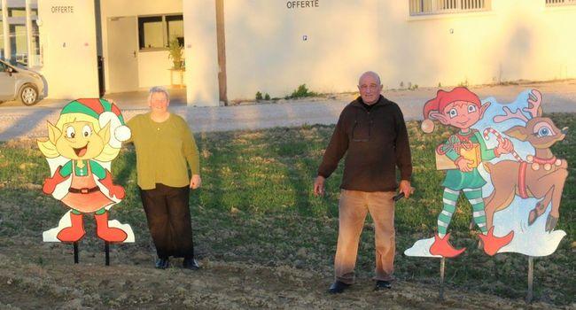 Des lutins accueillent les visiteurs à L'Isle-en-Dodon./. Photo DDM Y.C-S