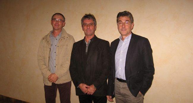 Le président Jean-Luc Dupoux (à droite) et ses vice-présidents Jean-Jacques Siméon (au centre) et Alain Fréchou (à gauche).