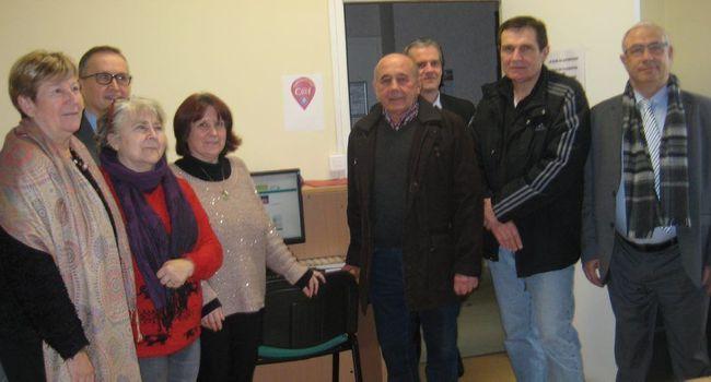 Le point d'accès numérique de la CAF a été inauguré dans les locaux du centre communal d'action sociale de L'Isle-en-Dodon./Photo DDM