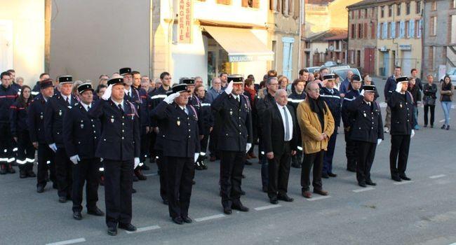 La grande famille des sapeurs pompiers était réunie samedi pour fêter sa patronne Sainte-Barbe./Photo Y.C-S