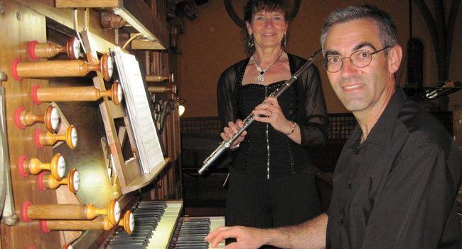 Chantal Béréziat, flûtiste et Jean-François Coutens, organiste, se produiront prochainement à L'Isle-en-Dodon./Photo DDM