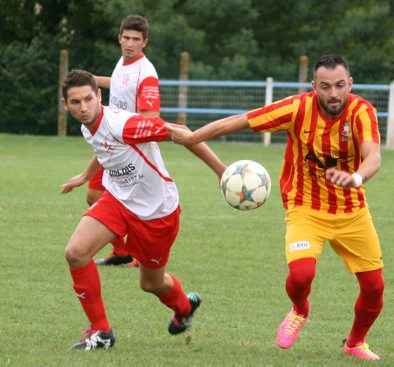 Auteur d'un doublé, Romuald Ajas totalise quinze buts cette saison./Photo DDM