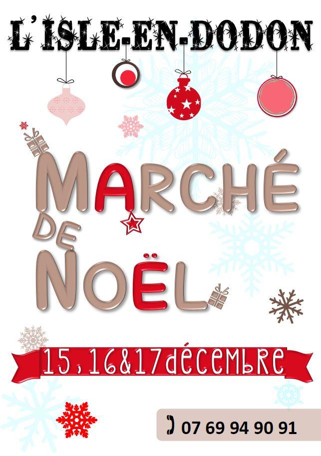 affiche programme  marché de noël l'isle en dodon décémbre 2017