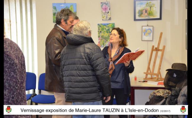 Exposition vernissage maire-laure tauzin à l'isle en dodon