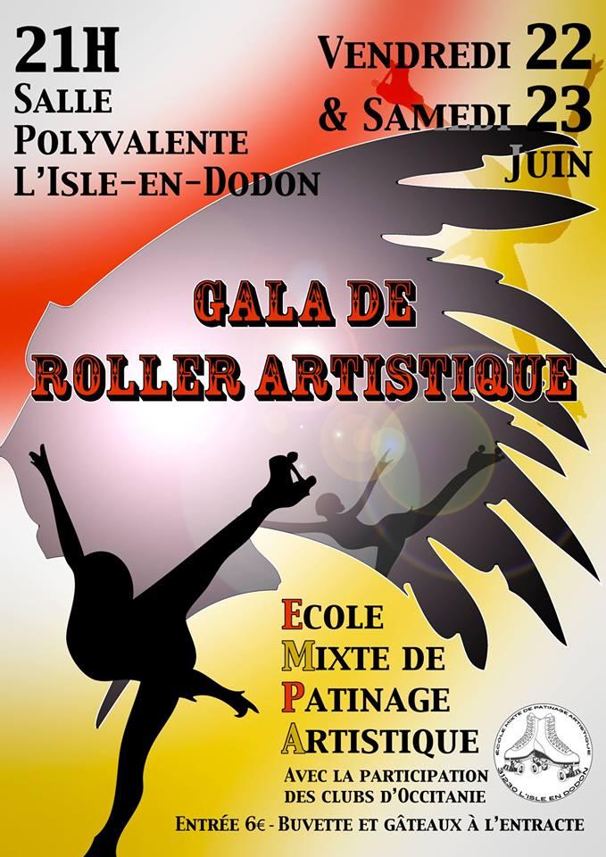 gala de roller artistique l'isle en dodon juin 2018