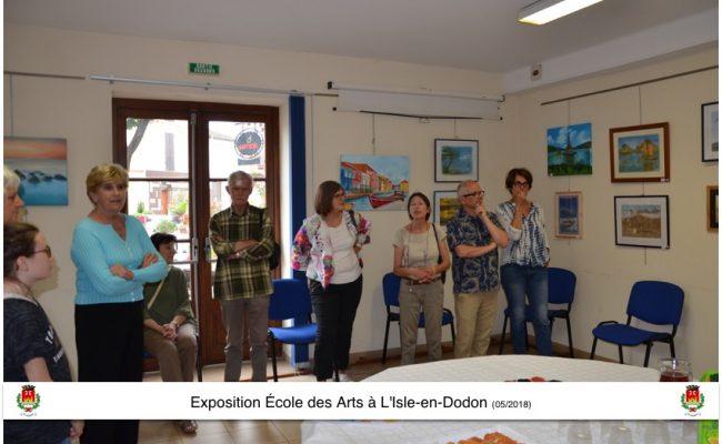 Expo école des arts L'Isle-en-Dodon