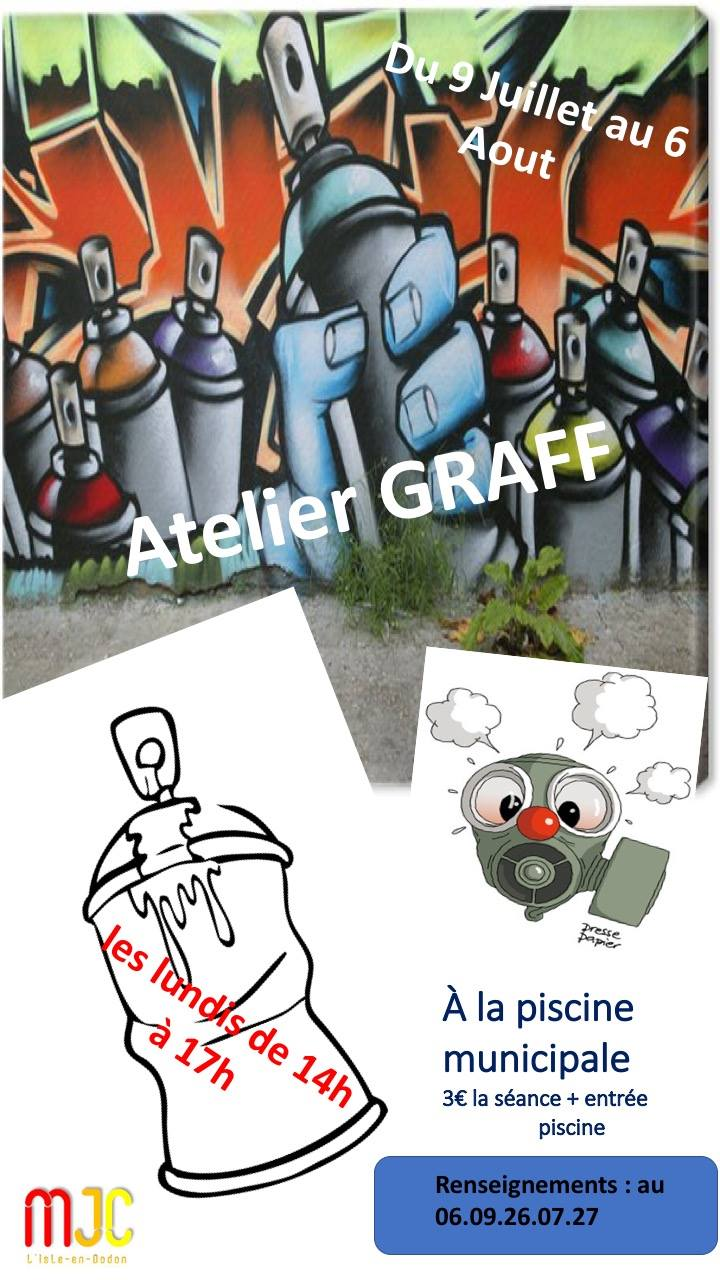 Atelier graff à la piscine de L'Isle-en-Dodon