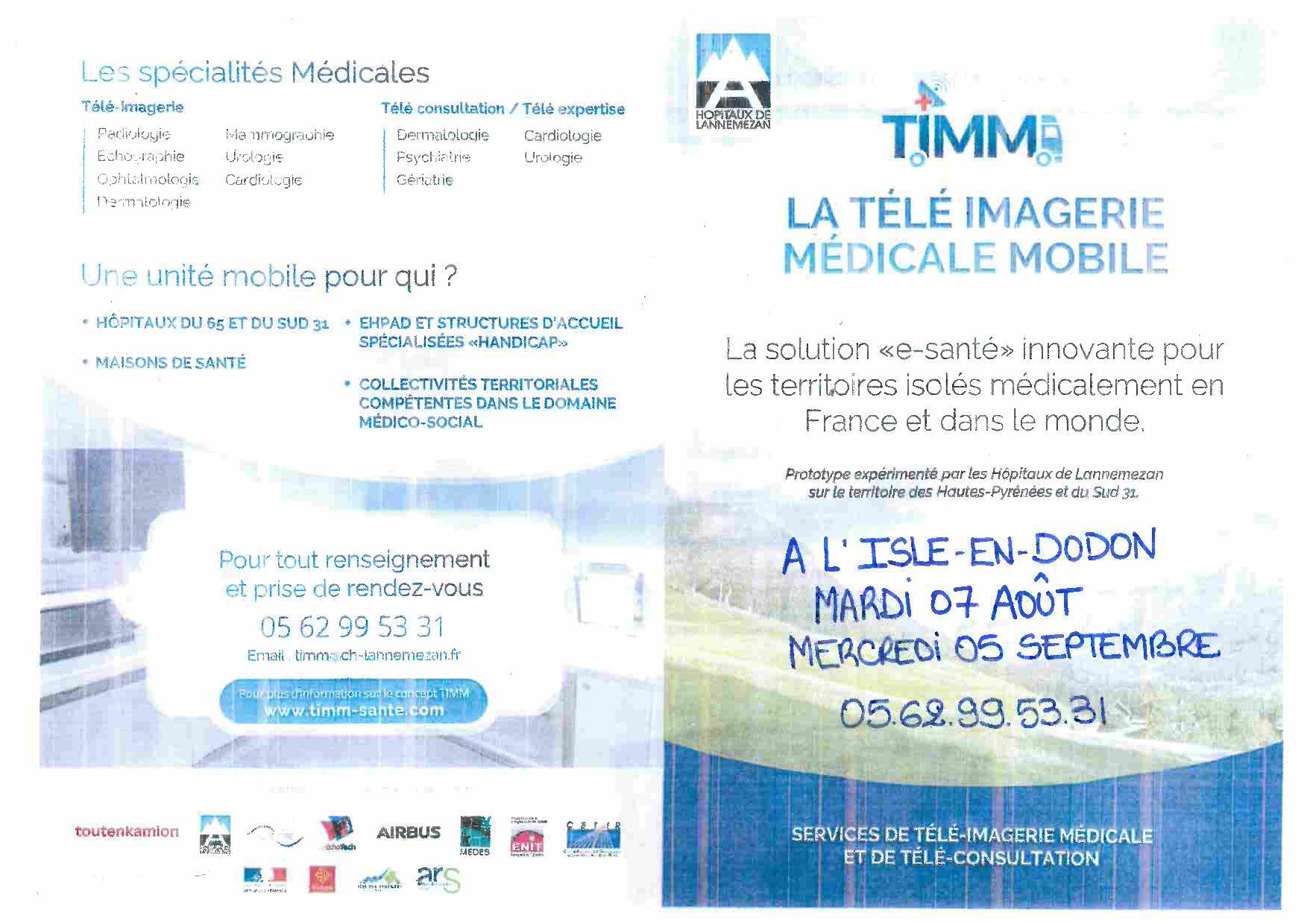 La télé imagerie médicale à L'Isle-en-Dodon