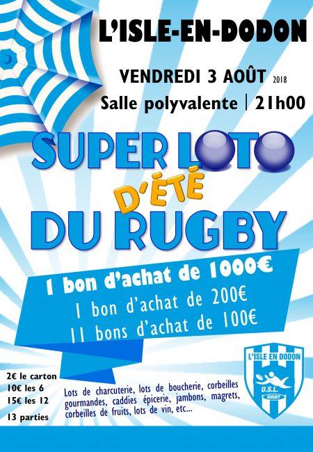 Super loto d'été du rugby à la salle polyvalente de L'Isle-en-Dodon