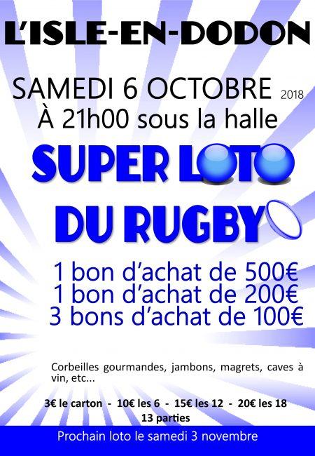 loto du rugby le 6 octobre