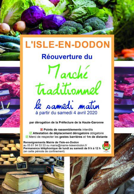 marché l'isle en dodon COVID-19