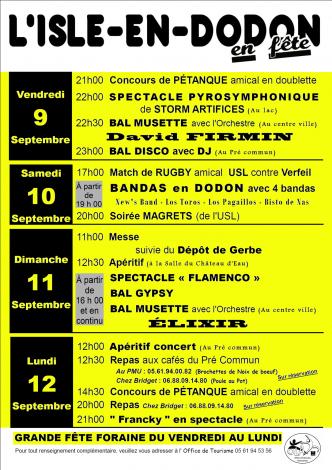 fête l'Isle-en-Dodon
