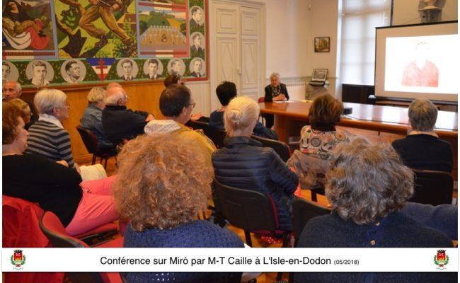 Conférence Miro L'Isle-en-Dodon